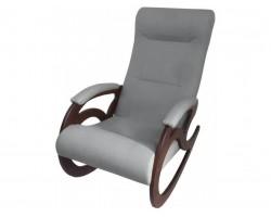 Кресло качалка Венера/Темный орех/Серый БИНГО 25 фото