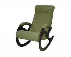 Кресло качалка Венера/Темный орех/Зеленый БИНГО 7 фото