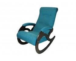 Кресло качалка Венера/Темный орех/Синий БИНГО 10 фото