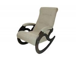 Кресло качалка Венера/Темный орех/Бежевый БИНГО 31 фото