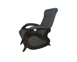Кресло качалка Маятник/Темный орех/Серый БИНГО 25 фото